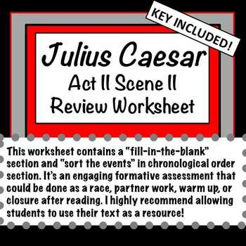 Julius Caesar Vocabulary Act 1 Worksheet Answers Along with Julius Caesar Act Ii Teaching Resources