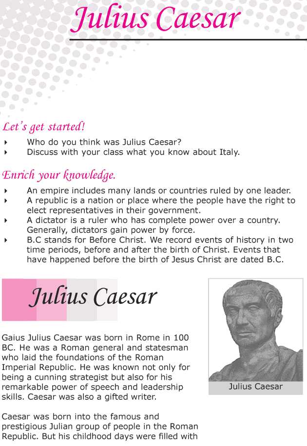 Julius Caesar Vocabulary Act 1 Worksheet Answers with Grade 6 Reading Lesson 12 Biographies Julius Caesar