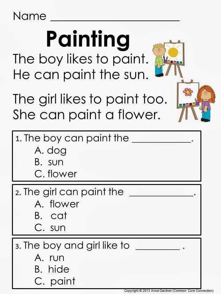 Kindergarten Reading Comprehension Worksheets Along with Worksheets 45 Lovely Prehension Worksheets High Resolution