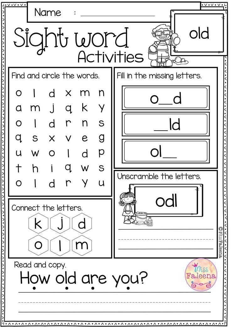 Kindergarten Writing Worksheets or Free Sight Word Activities is Perfect for Preschool Kindergarten