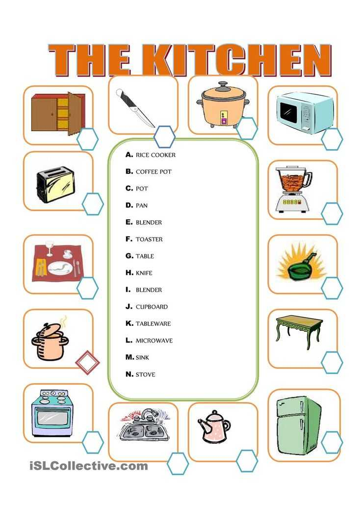 Kitchen tools Worksheet and 59 Best Muebles Images On Pinterest