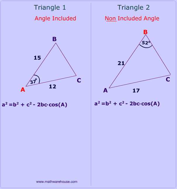 Law Of Sines Practice Worksheet Answers with Law Of Cosines How and when to Use formula Examples Problems and