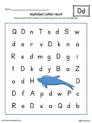 Letter D Preschool Worksheets and Alphabet Letter Hunt Letter D Worksheet Color
