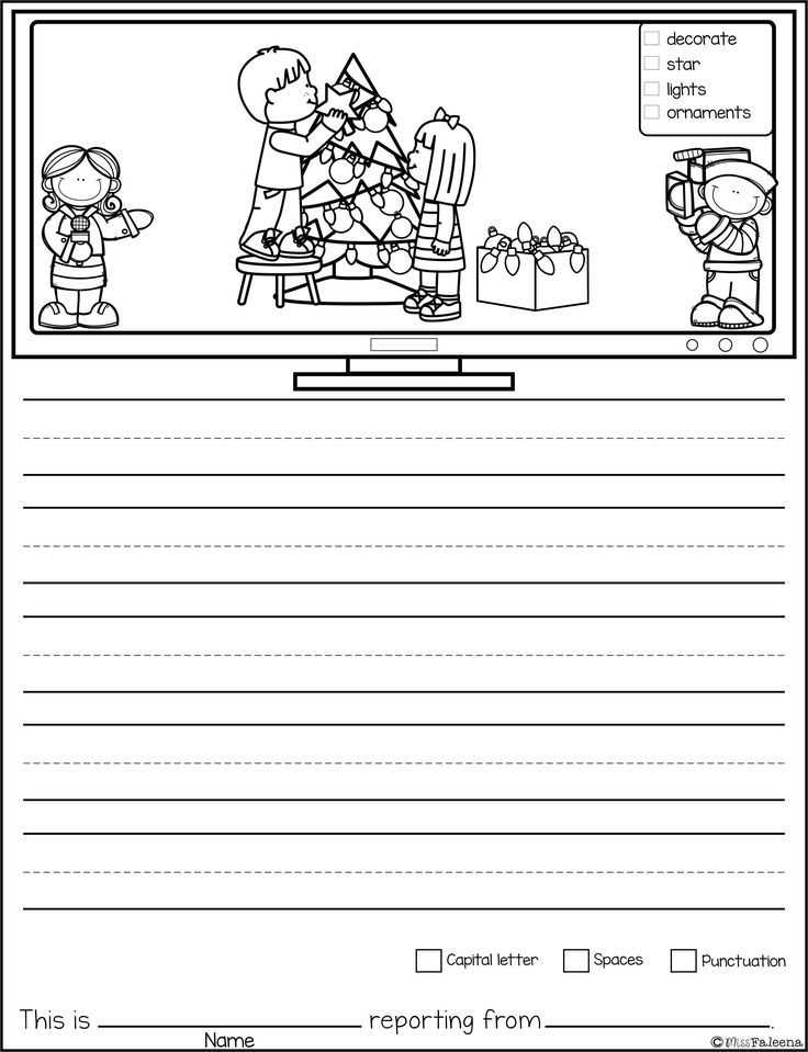 Letter Writing Worksheets for Grade 3 as Well as December Writing Picture Prompts News Reporter