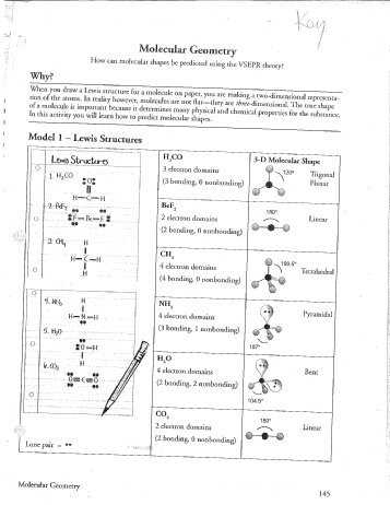 Lewis Structure Worksheet 1 Answer Key as Well as Geometry Worksheets with Answers Worksheets for All