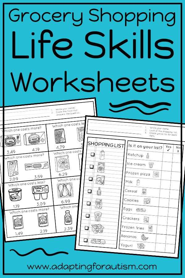 Life Skills Worksheets for Middle School together with 6485 Best Life Skills Special Education Images On Pinterest