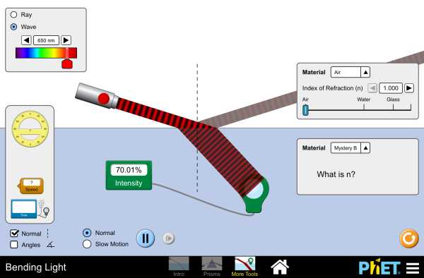 Light and Color Worksheet Answers Physics Classroom as Well as Bending Light Interactive Simulater From Phet