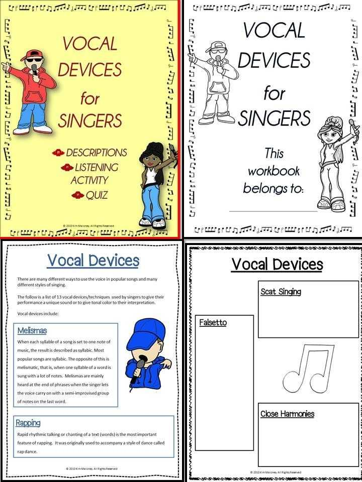 Listening Activity Worksheets Also Chorus Choir Research and Listening Activities