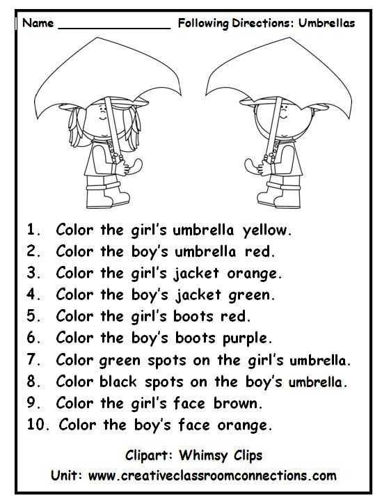 Listening Activity Worksheets and 2182 Best Kindergarten Images On Pinterest