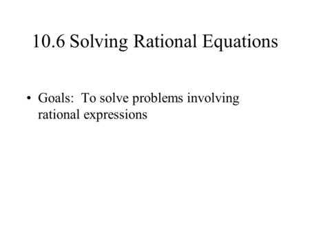 Literal Equations Worksheet Answer Key with Work with solving Equations Containing Rational Expressions Ppt Video Online