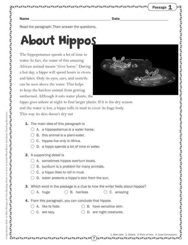 Main Idea Worksheets Pdf with Main Idea Multiple Choice Worksheets Beautiful Identify Supporting