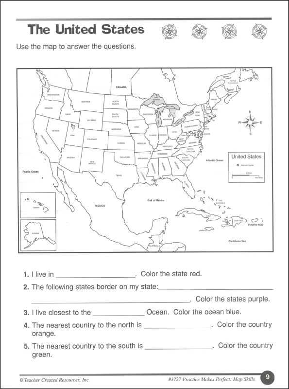 Map Skills Worksheets Middle School Along with Free Map Skills Worksheet Worksheets for All