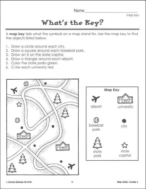 Map Skills Worksheets Middle School as Well as Basic Map Skills Worksheets Worksheets for All