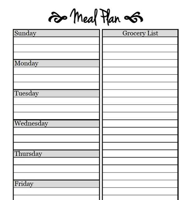Meal Planning Worksheet and 655 Best Meal Prep Planner Templates Images On Pinterest