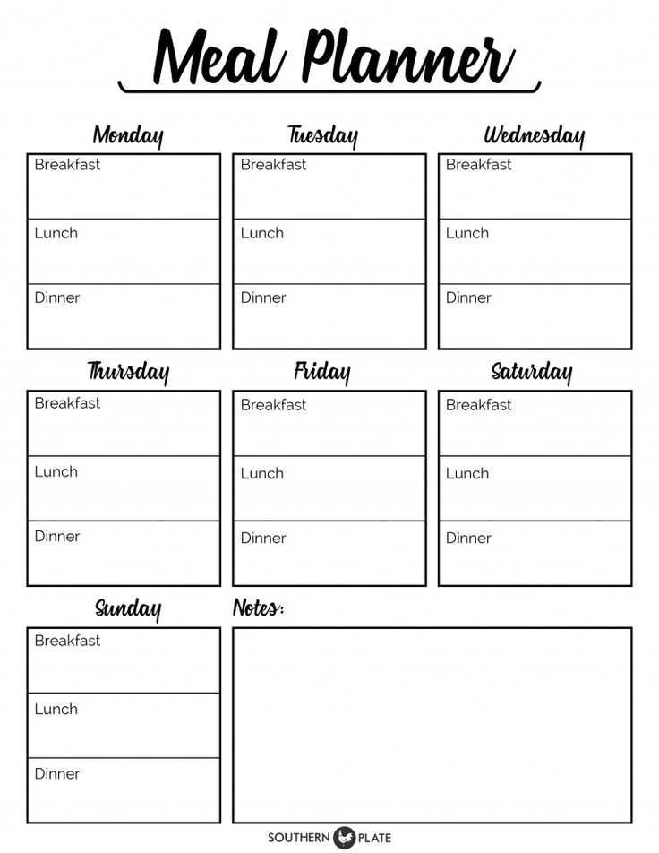 Meal Planning Worksheet and Free Printable Menu Planner Sheet