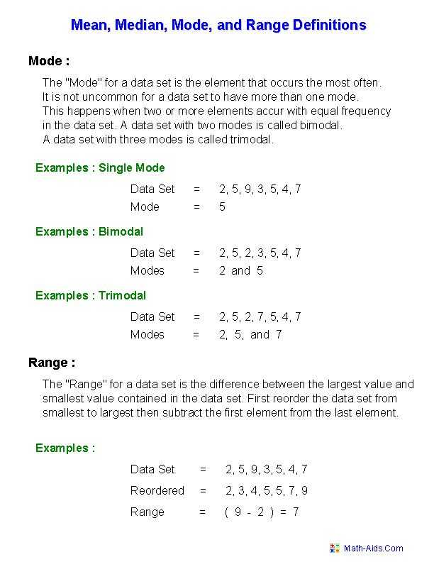Mean Median Mode Range Worksheets with Answers Along with Beautiful Mean Median Mode Range Worksheets Awesome 51 Best Math
