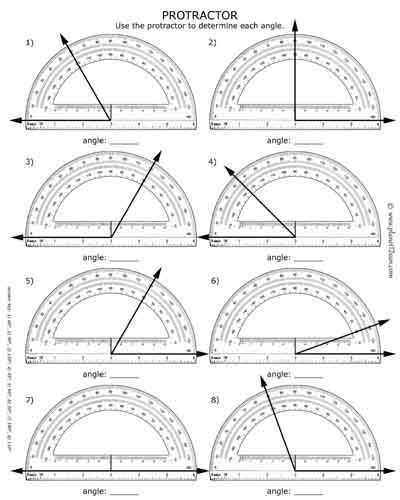 Measuring Angles with A Protractor Worksheet and 131 Best Worksheets for Kids Images On Pinterest
