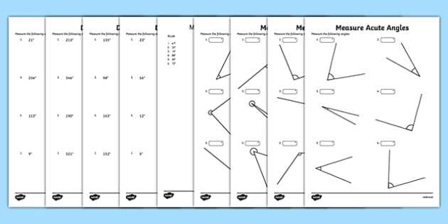 Measuring Angles with A Protractor Worksheet and Draw and Measure Angles Maths Mastery Worksheet Pack Year 5