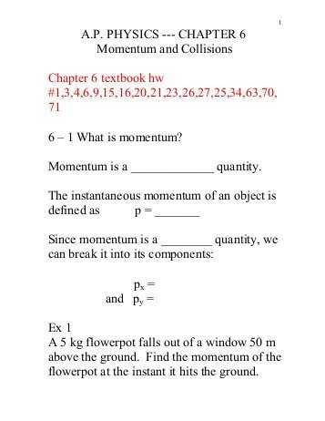 Momentum and Collisions Worksheet Answers Along with Physics 121 Elastic Collisions Zero total Momentum Section 10 6 Of