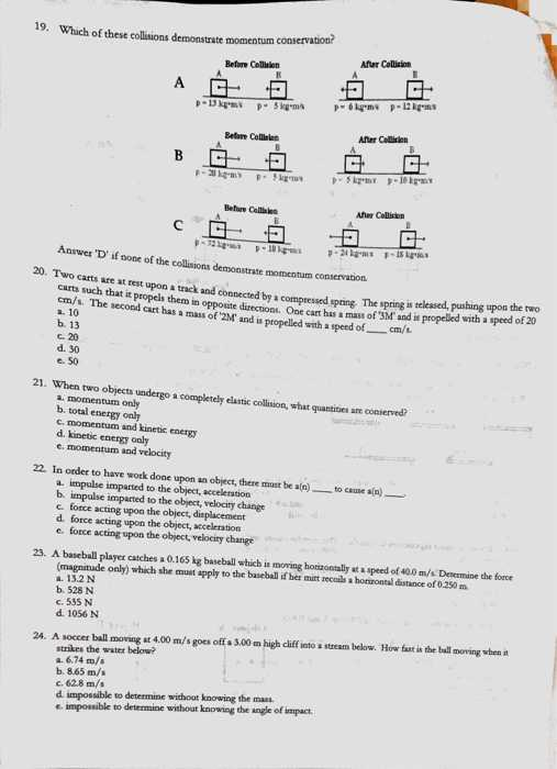 Momentum and Collisions Worksheet Answers Also Physics Archive May 09 2017