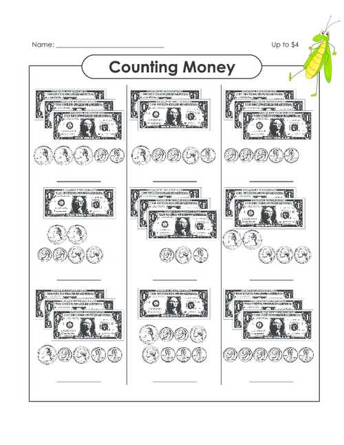 Money Skills Worksheets Also Counting Money Up to $14