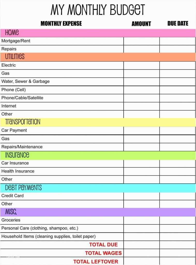 Monthly Budget Worksheet and Cheap Printable Bud Worksheet – Sabaax