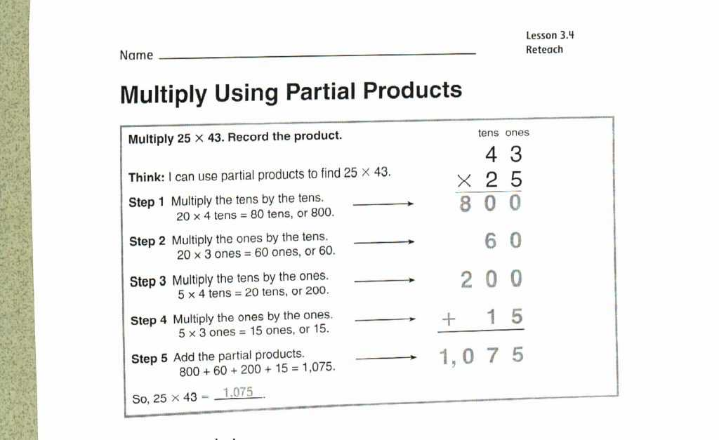 Multiply Using Partial Products 4th Grade Worksheets together with Partial Sums Addition Worksheets Math Easy Educational Worksheet for