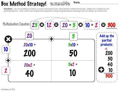 Multiply Using Partial Products 4th Grade Worksheets with Fourth Grade Multiplication