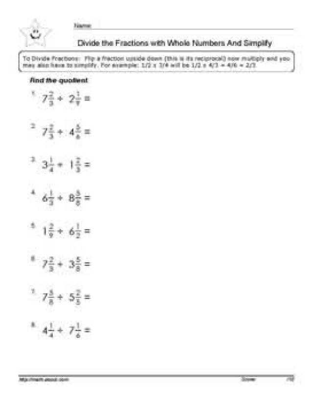 Multiplying Fractions and Mixed Numbers Worksheet Along with Worksheets 44 New Multiplying and Dividing Fractions Worksheets Hd