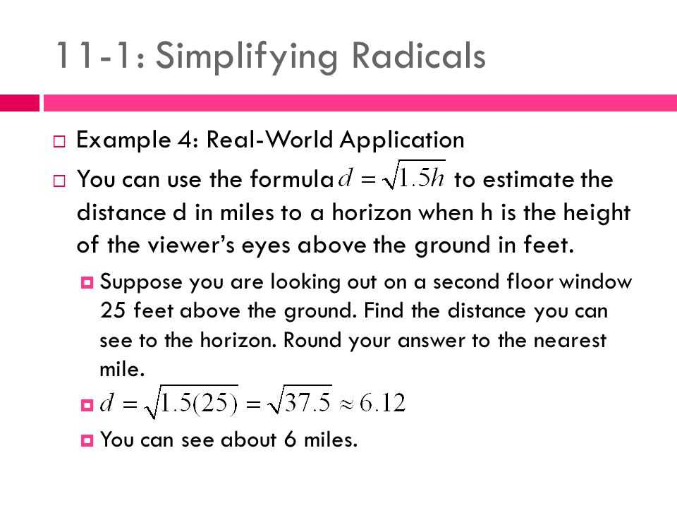 Multiplying Radical Expressions Worksheet Answers Along with 11 1 Simplifying Radicals Ppt Video Online