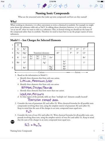 Naming Ionic Compounds Worksheet Answers and Naming Ionic Pounds Worksheet Pogil Kidz Activities