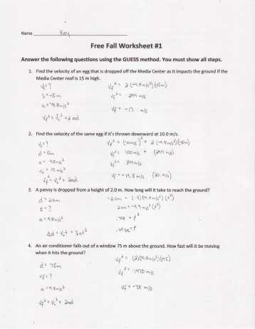 Net force Worksheet Answer Key and Worksheet