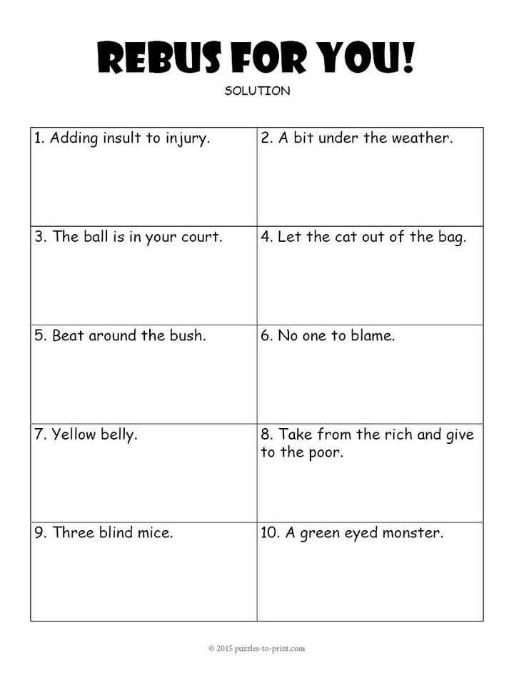 Nova Hunting the Elements Worksheet Answer Key with Rebus Worksheet 3