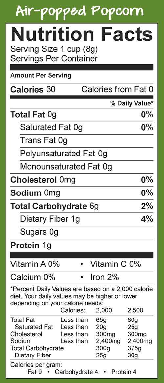 Nutrition Label Analysis Worksheet together with Popcorn Board Nutrition Popcorn Nutritional Information