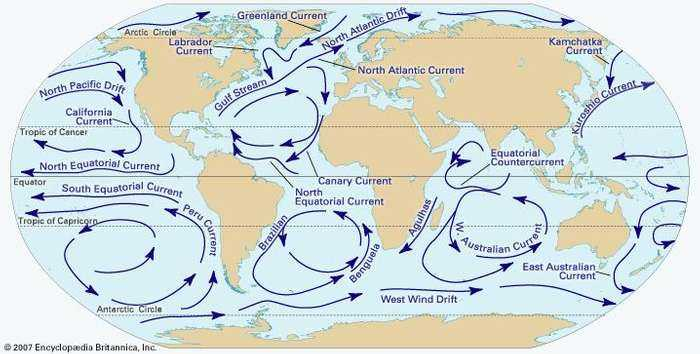 Ocean Surface Currents Worksheet with Ocean Current