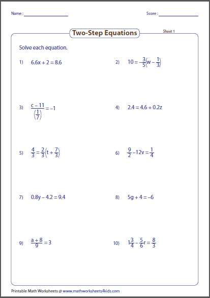 One Step Equations with Fractions Worksheet together with Worksheets 45 Beautiful Two Step Equations Worksheet High Resolution