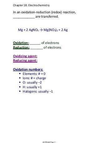 Oxidation Reduction Reactions Worksheet Along with the Redox Regents Review Worksheet