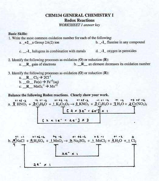 Oxidation Reduction Reactions Worksheet together with Worksheets 44 Inspirational Balancing Equations Worksheet Answers Hi