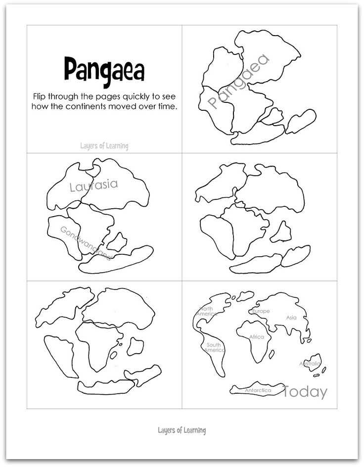 Pangea Worksheet Answers Also 542 Best EaⓇth Teaching Geography & Geology Images On Pinterest