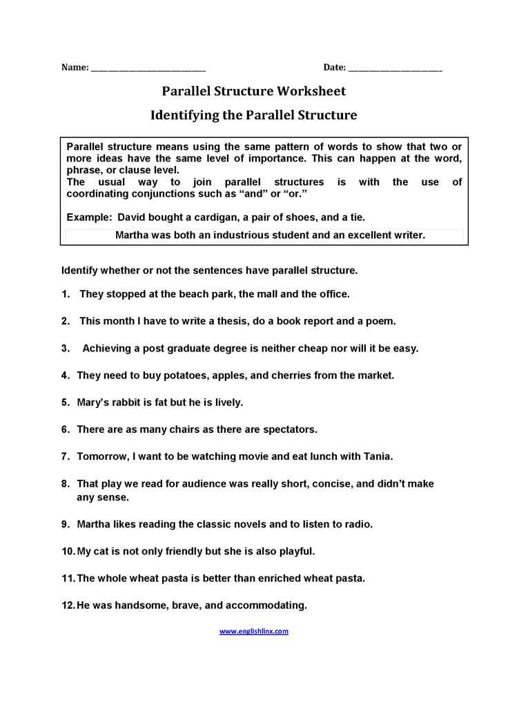 Parallel Structure Practice Worksheet Also 4033 Best Englishlinx Board Images On Pinterest