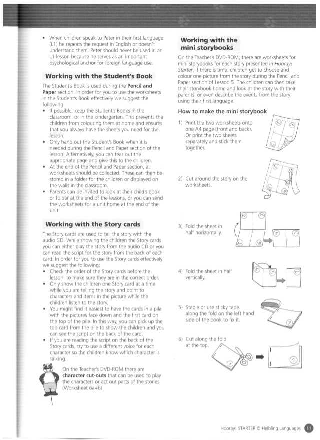 Peters Experiment Worksheet Answer Key Also Hooray Starter Teacher S Book