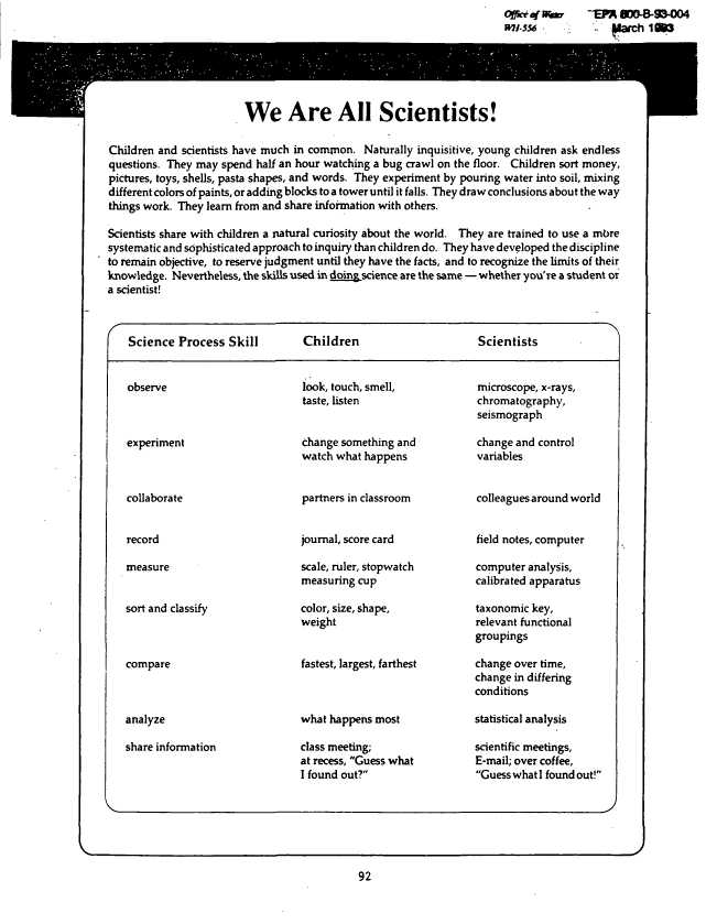 Peters Experiment Worksheet Answer Key and Document Display Nepis