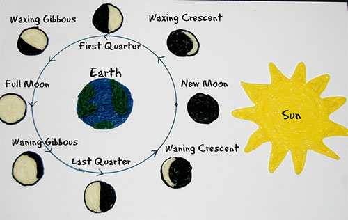 Phases Of the Moon Printable Worksheets Also Phases the Moon Drawing at Getdrawings