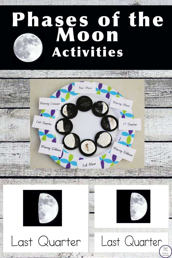 Phases Of the Moon Printable Worksheets together with Free Printable Phases Of the Moon Simple Living Creative Learning