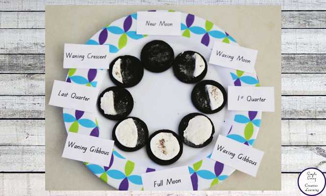Phases Of the Moon Printable Worksheets with Free Printable Phases Of the Moon Simple Living Creative Learning