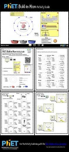 Phet Build An atom Worksheet Answers together with Phet States Of Matter Activity Guide