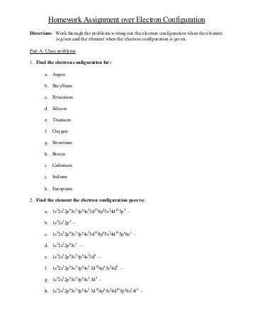 Photoelectron Spectroscopy Worksheet Answers Also Worksheets 43 New Electron Configuration Practice Worksheet High