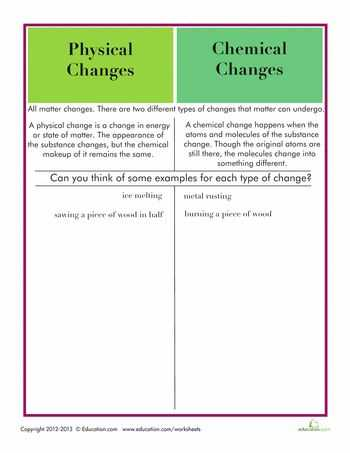 Physical Chemical Changes Worksheet with 44 Best Chemistry Images On Pinterest