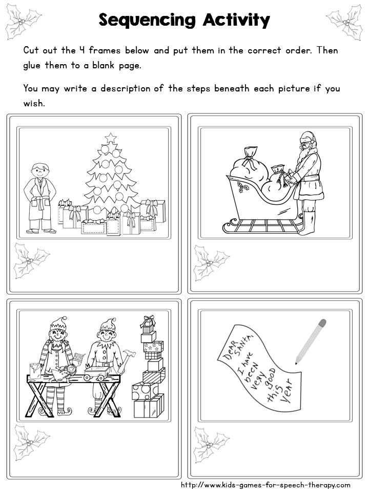 Picture Sequencing Worksheets and 90 Best Slp Sequencing Activities Images On Pinterest