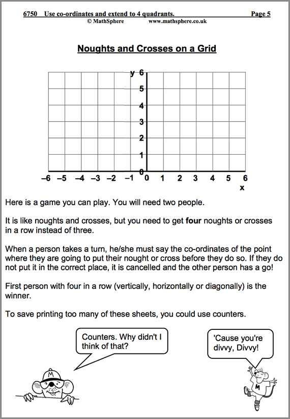 Plotting Coordinates Worksheet or Use Co ordinates and Extend Into 4 Quadrants Maths Worksheet